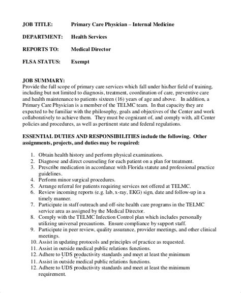 Primary care physician resume jpg 600x730
